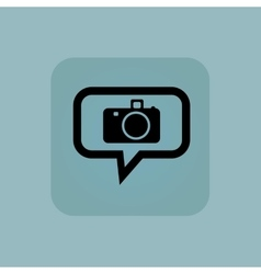 Pale blue camera message icon vector