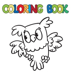 Coloring book of little owl vector