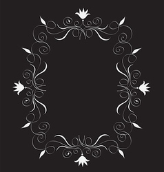 Abstract floral frame free vector