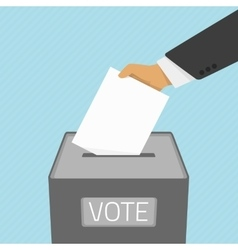 Voting paper in the ballot box vector image