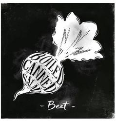 Beet cutting scheme chalk vector