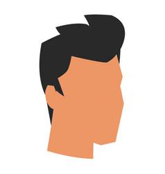 Businessman profile male portrait business man vector