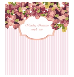 Card with Watercolor vector image vector image