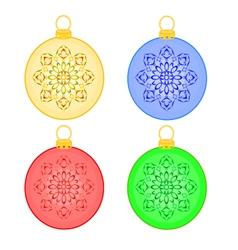 Christmas balls rosette christmas trimmings vector