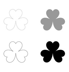 Clover the black and grey color set icon vector