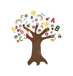 Education concept tree vector