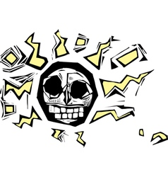 Electric Skull vector image