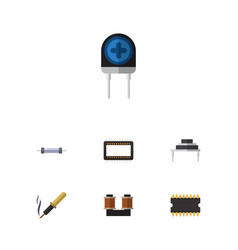 Flat icon technology set of resistor vector