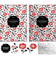 Flower frame set vector image