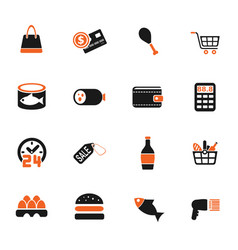 grocery store icon set vector image