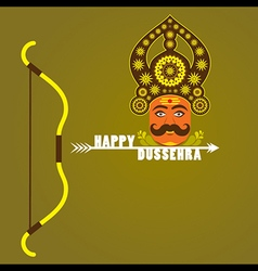 Happy dussehra festival poster or greeting design vector