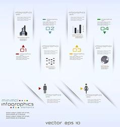 infographics retro minimal vector image vector image