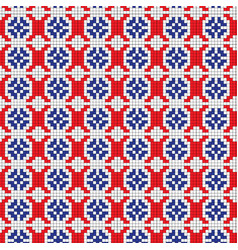 isolated seamless texture with red black and blue vector image vector image