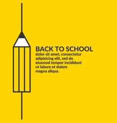 Linear poster back to school graphics vector