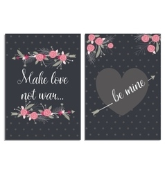 Love collection with 2 cards Templates for vector image vector image