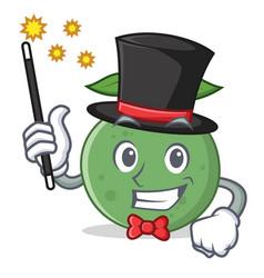 Magician guava mascot cartoon style vector