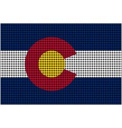Mosaic flag of colorado vector