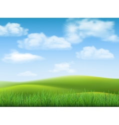 nature landscape sky and grass vector image vector image