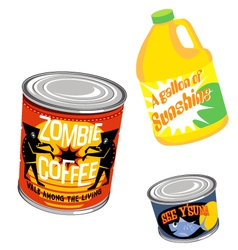 retro grocery product packaging 2 vector image vector image