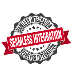 Seamless integration stamp sign seal vector