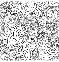 Seamless pattern with black and white stylized vector image