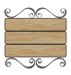 signboard with wooden planks vector image vector image