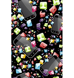 Smart phone application pattern vector image vector image