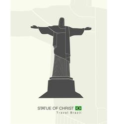 Statue of Christ in Rio de Janeiro vector image vector image
