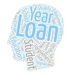 Student loan forgiveness text background wordcloud vector