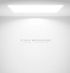 studio wall light vector image vector image