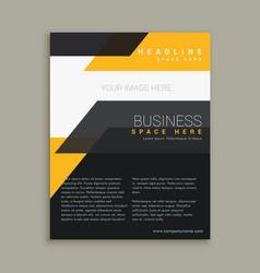 Stylish business flyer brochure design vector
