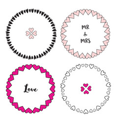 Valentines day frames set cute decorative vector