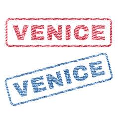Venice textile stamps vector
