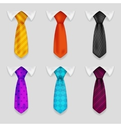 Shirt and tie realistic icons set bacground 3d vector