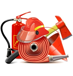 Fire prevention equipment concept vector