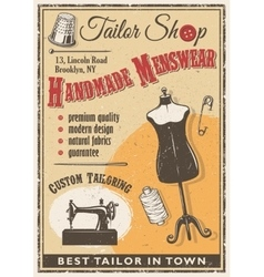 Tailor shop poster vector