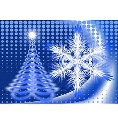 Card with snowflake in blue vector