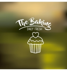 Cupcake of bakery food design vector