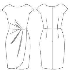 Dress vector image