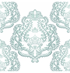 Baroque floral damask ornament vector