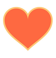 Flat heart sign like icon favorite button vector