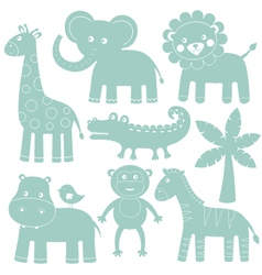 Cartoon animals set vector