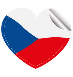 flag icon design for chilie in heart shape vector image