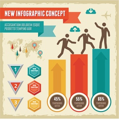 Infographic Concept vector image