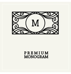 Stylish vintage graceful monogram vector