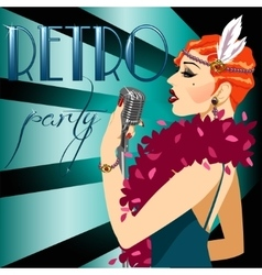 Party invitation with sample text 1920s poster vector