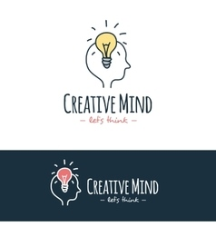 Cartoon style brain training logo hand vector