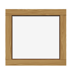 Empty notice wooden board vector