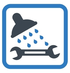 Shower plumbing flat icon vector