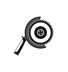 Circle saw icon simple style vector